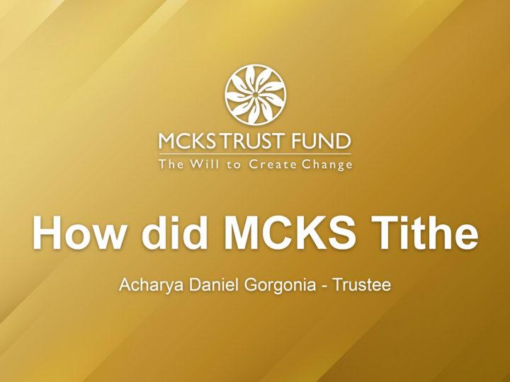 How Did MCKS Tithe