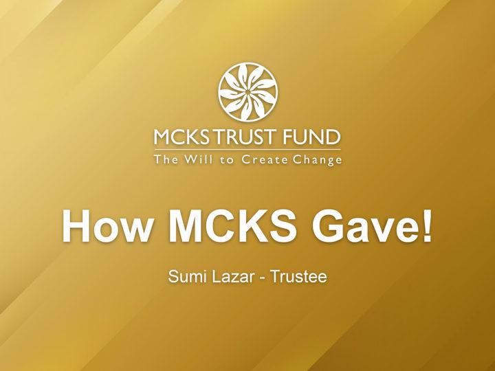 How MCKS Gave!