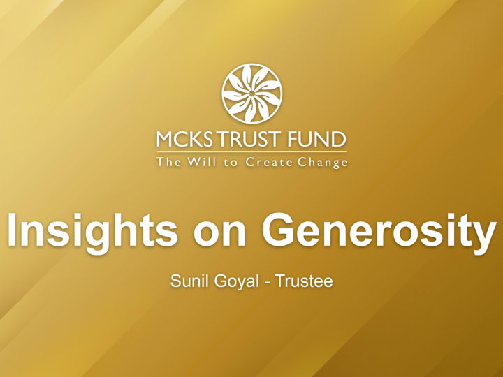 Insights on Generosity