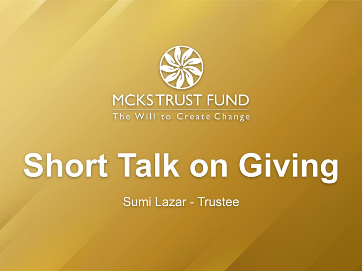 Short Talk on Giving