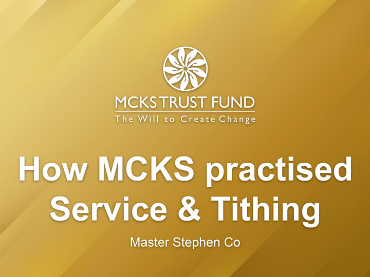 How MCKS Practiced Service & Tithing